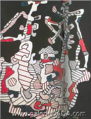 Jean Dubuffet,  The Boat I Fine Art Reproduction Oil Painting