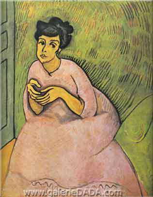 Raoul Dufy,  Woman in Pink Fine Art Reproduction Oil Painting