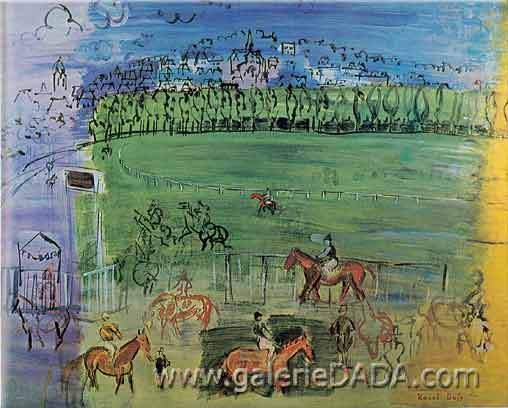 Raoul Dufy,  Racetrack at Deauville Fine Art Reproduction Oil Painting
