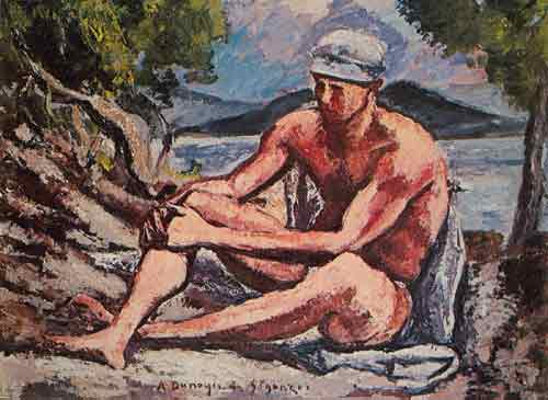 Andre Dunoyer de Segonzac,  The Seated Bather Fine Art Reproduction Oil Painting