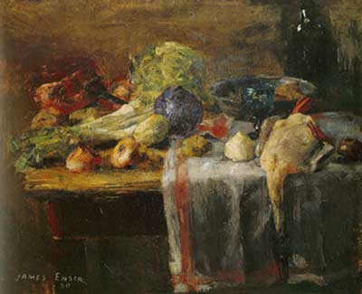 James Ensor,  Still Life with a Duck Fine Art Reproduction Oil Painting