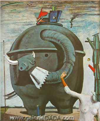 Max Ernst,  The Elephant of the Celebres Fine Art Reproduction Oil Painting