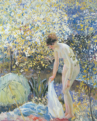Frederick Frieseke,  Cherry Blossom Fine Art Reproduction Oil Painting