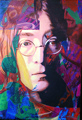 James gill john lennon painting on the wall for Where to buy fine art