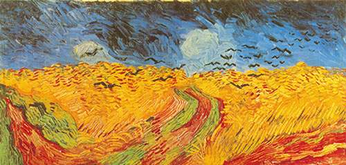 Vincent Van Gogh,  Crows over the Wheat Field Fine Art Reproduction Oil Painting