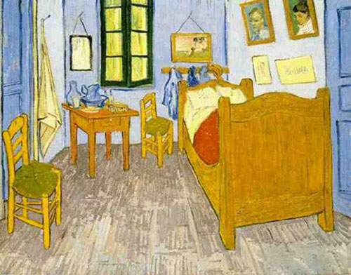 Vincent Van Gogh,  Vincents Bedroom in Arles Fine Art Reproduction Oil Painting