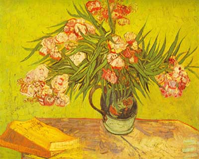 Vincent Van Gogh,  Oleanders Fine Art Reproduction Oil Painting