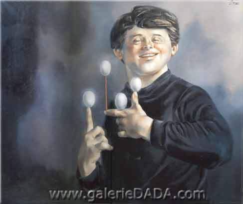 Enrique Grau,  The Juggler Fine Art Reproduction Oil Painting