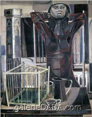 Enrique Grau,  Cage in Florence Fine Art Reproduction Oil Painting