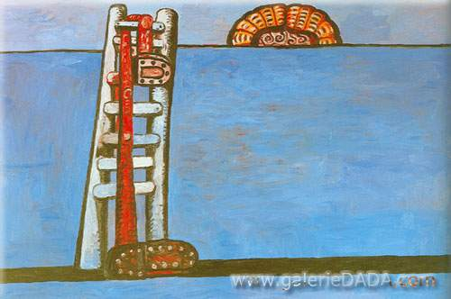 Philip Guston,  Ladder Fine Art Reproduction Oil Painting