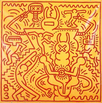 Keith Haring,  Untitled Fine Art Reproduction Oil Painting