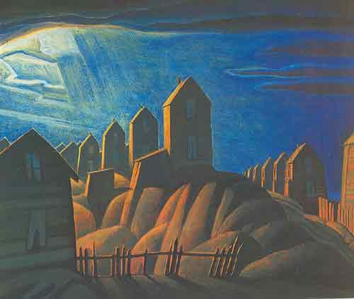 Lawren Harris,  Miners Houses Fine Art Reproduction Oil Painting