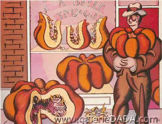 Jean Helion,  The Etruscan Pumpkin Act Fine Art Reproduction Oil Painting