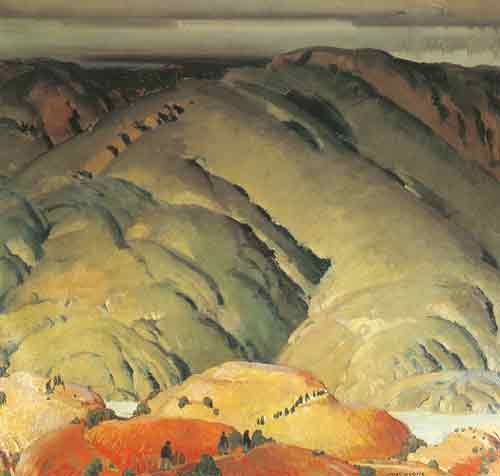 Victor Higgins,  Mountain Forms Fine Art Reproduction Oil Painting