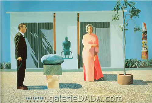 David Hockney,  American Collectors (Fred and Marcia Weisman) Fine Art Reproduction Oil Painting