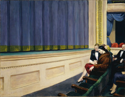 Edward Hopper,  First Row Orchestra Fine Art Reproduction Oil Painting