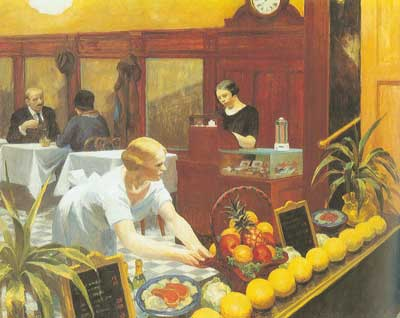 Edward Hopper,  Tables for Ladies Fine Art Reproduction Oil Painting
