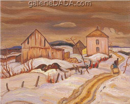 Alexander Y. Jackson,  Winter: Lislet Quebec Fine Art Reproduction Oil Painting