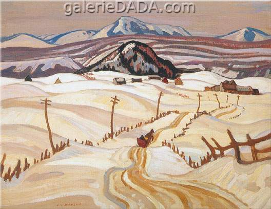 Alexander Y. Jackson,  Grey Day Laurentians Fine Art Reproduction Oil Painting
