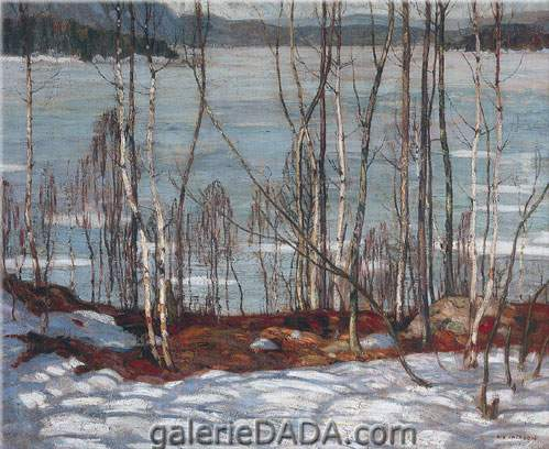 Alexander Y. Jackson,  Frozen Lake Early Spring Algonquin Park Fine Art Reproduction Oil Painting