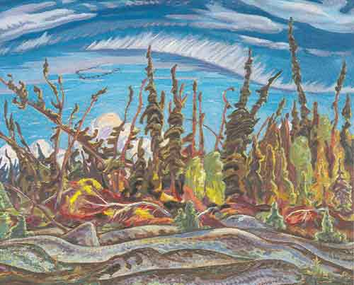 Alexander Y. Jackson,  Yellowknife Country Northwest Territories Fine Art Reproduction Oil Painting