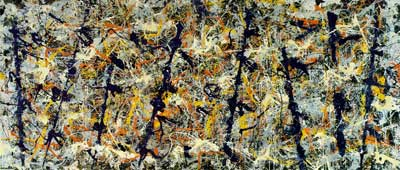 Jackson Pollock, Blue Poles - Number 11 Fine Art Reproduction Oil Painting