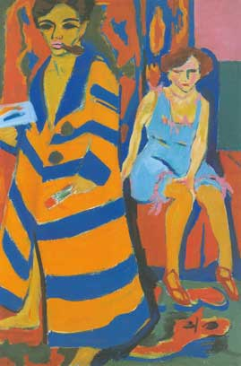 Ernst Ludwig Kirchner,  Self-Portrait with Model Fine Art Reproduction Oil Painting