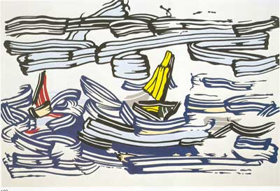 Roy Lichtenstein,  Sailboats Fine Art Reproduction Oil Painting