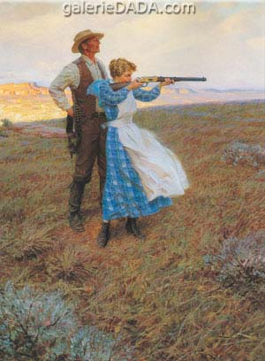 Tom Lovell,  Target Practice Fine Art Reproduction Oil Painting