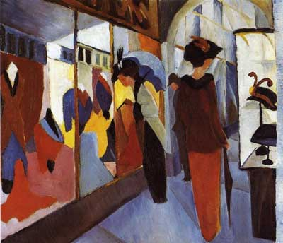 August Macke,  Fashion Shop Fine Art Reproduction Oil Painting
