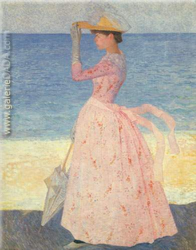Aristride Maillol,  Woman with Parasol Fine Art Reproduction Oil Painting