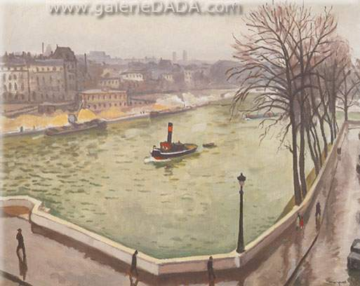 Albert Marquet,  La Seine a Paris Fine Art Reproduction Oil Painting