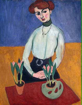 Henri Matisse,  Girl with Tulips Fine Art Reproduction Oil Painting