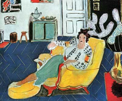 Young Girl with a Yellow Sofa