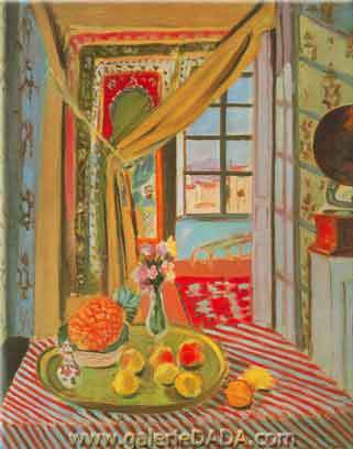 Henri Matisse,  Interior at Nice Fine Art Reproduction Oil Painting