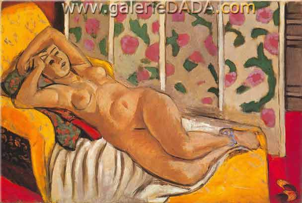 Henri Matisse,  Yellow Odalisque Fine Art Reproduction Oil Painting