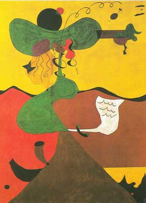 Joan Miro,  Portrait of Mrs Mills Fine Art Reproduction Oil Painting