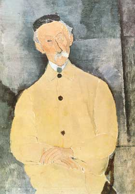 Amedeo Modigliani,  Monsieur Lepoutre Fine Art Reproduction Oil Painting