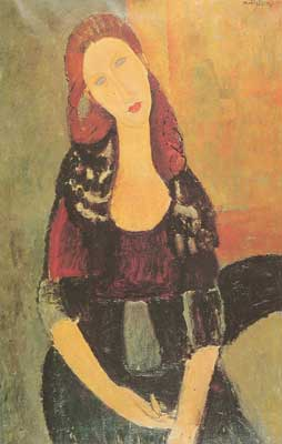 Amedeo Modigliani,  Jeanne Hebuterne Fine Art Reproduction Oil Painting