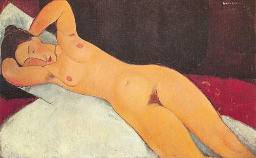 Amedeo Modigliani,  Nude with Necklace Her Eyes Closed Fine Art Reproduction Oil Painting