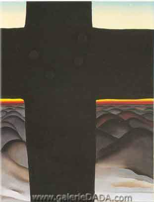 Georgia OKeeffe,  Black Cross New Mexico Fine Art Reproduction Oil Painting