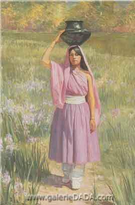 Bert Geer Philips,  The Water Carrier Fine Art Reproduction Oil Painting