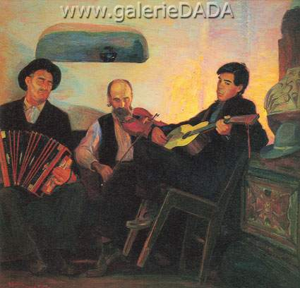 Bert Geer Philips,  Three Musicians of the Baille Fine Art Reproduction Oil Painting