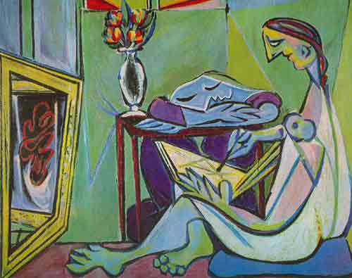 Pablo Picasso,  Young Woman Drawing Fine Art Reproduction Oil Painting