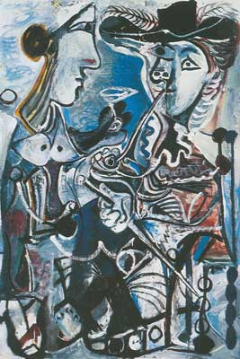 Pablo Picasso,  The Couple Fine Art Reproduction Oil Painting