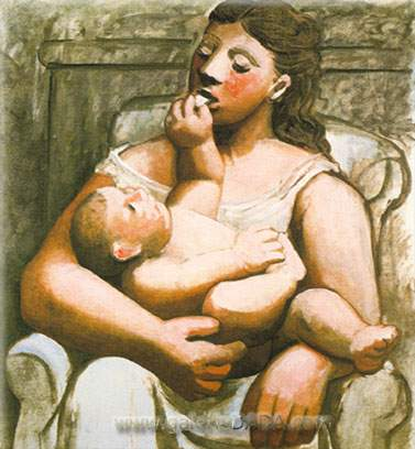 Pablo Picasso,  Maternity Fine Art Reproduction Oil Painting