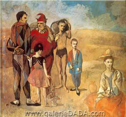 Pablo Picasso,  Family of Saltimbanques Fine Art Reproduction Oil Painting