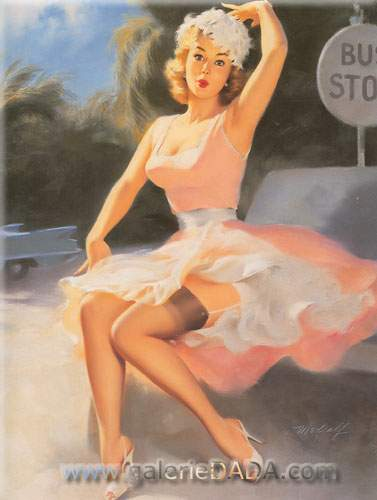 Bill Medcalf,  Pin-Up Fine Art Reproduction Oil Painting