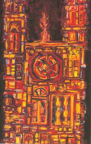 Rene Portocarrero,  Catedral Fine Art Reproduction Oil Painting