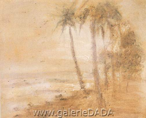 Armando Reveron,  Coconuts on the Beach Fine Art Reproduction Oil Painting